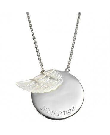 Petits Trésors : pendentif Femme Aile d'ange (argent)