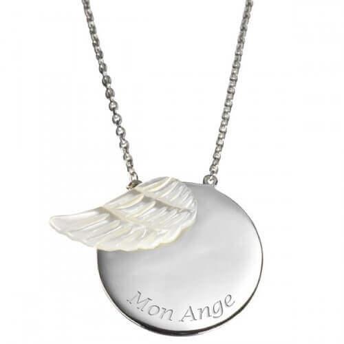 Célèbre Pendentif femme (argent) aile en nacre blanche - Petits Trésors  JP12