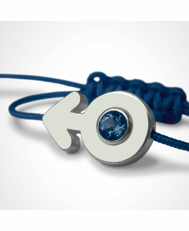 Mikado : bracelet Sex Symbol Garçon (or blanc)