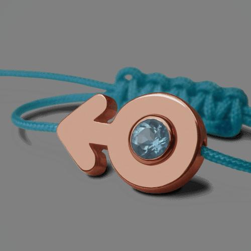 Mikado : bracelet Sex Symbol Garçon (or rose)