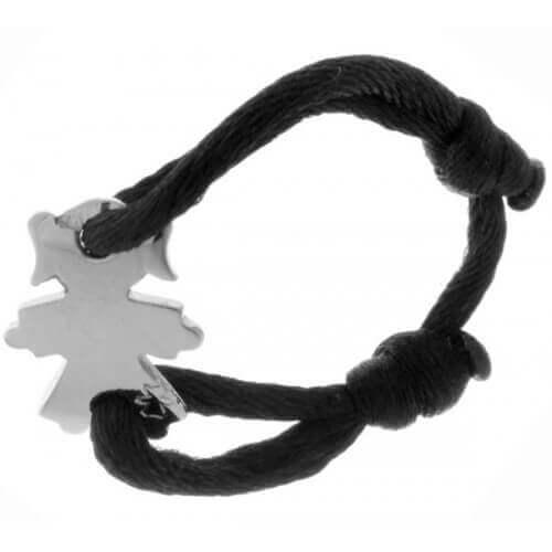 Loupidou : bague cordon fille ou garçon (or blanc)