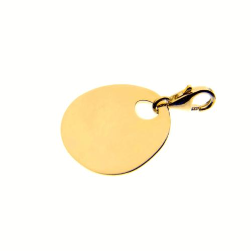 Les Empreintes : charm galet zen or jaune