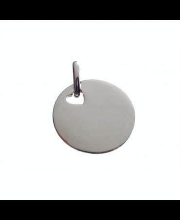 Les Empreintes : pendentif pastille argent trou cœur avec bélière