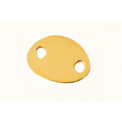 Les Empreintes : bracelet cordon mini galet or jaune