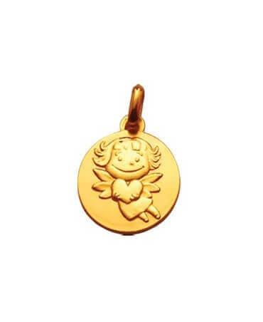 La Fée Galipette : médaille précieuse or jaune 18 carats