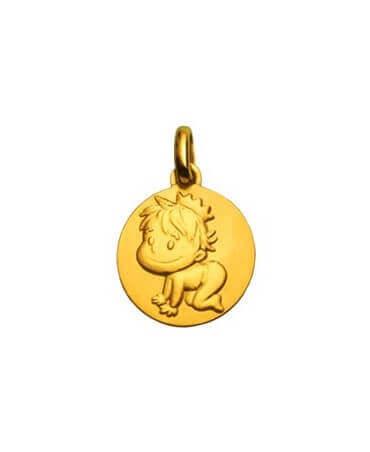 La Fée Galipette : médaille Blagueur or jaune 18 carats