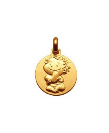 La Fée Galipette : médaille câline or jaune 18 carats