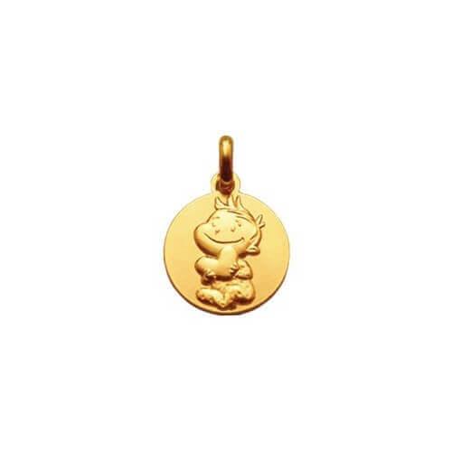 La Fée Galipette : médaille Rêveur or jaune 18 carats