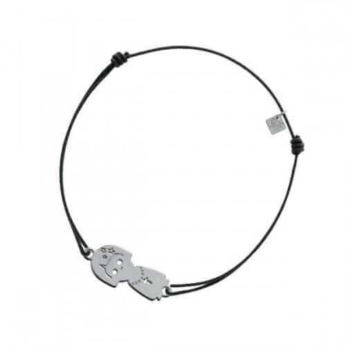 My Little Zodiac : Bracelet cordon signe Vierge (argent)
