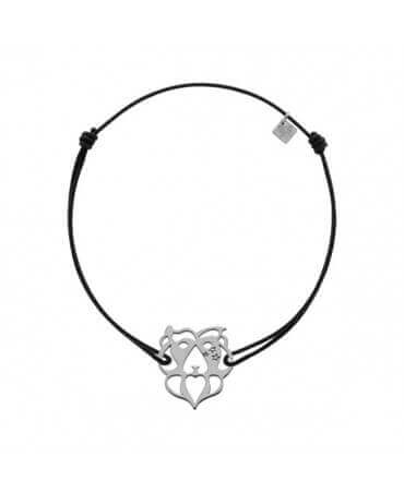 My Little Zodiac : Bracelet cordon signe Lion (argent)