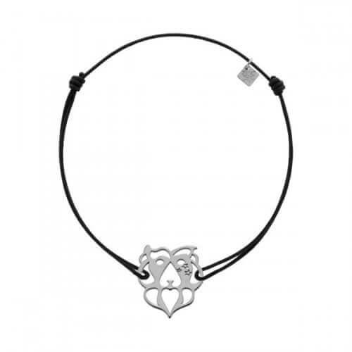 My Little Zodiac : Bracelet cordon signe Lion (argent)