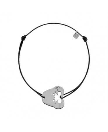 My Little Zodiac : Bracelet cordon signe Cancer (argent)