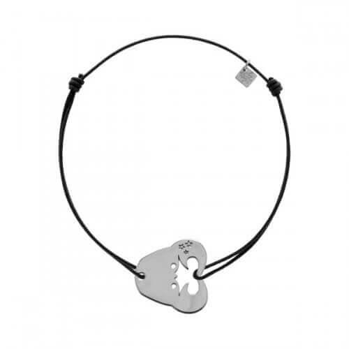 My Little Zodiac : Bracelet cordon signe Cancer (argent)