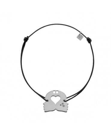 My Little Zodiac : Bracelet cordon signe Gémeaux (argent)