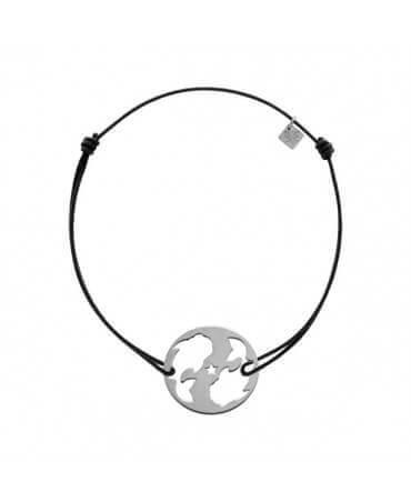 My Little Zodiac : Bracelet cordon signe Poisson (argent)