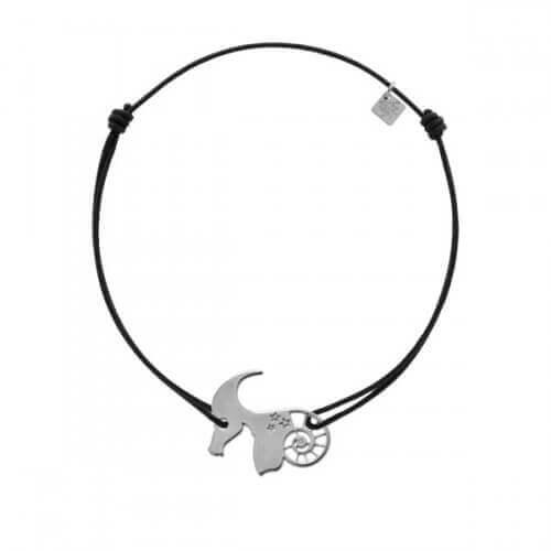 My Little Zodiac : Bracelet cordon signe Capricorne (argent)
