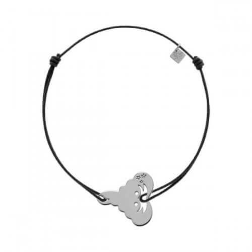 My Little Zodiac : Bracelet cordon signe Scorpion (argent)