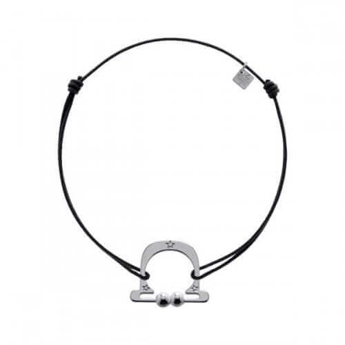 My Little Zodiac : Bracelet cordon signe Balance (argent)