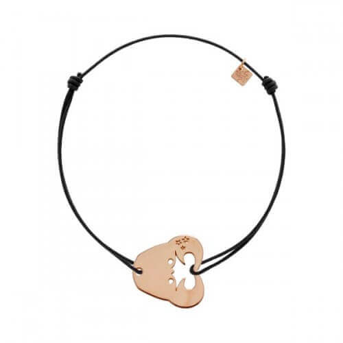 My Little Zodiac : Bracelet cordon signe Cancer (plaqué or rose)