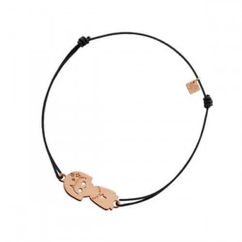 My Little Zodiac : Bracelet cordon signe Vierge (plaqué or rose)