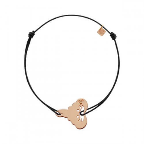 My Little Zodiac : Bracelet cordon signe Scorpion (plaqué or rose)