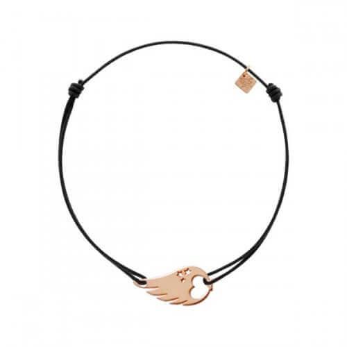 My Little Zodiac : Bracelet cordon signe Sagittaire (plaqué or rose)