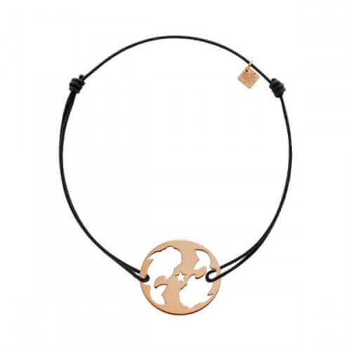 My Little Zodiac : Bracelet cordon signe Poisson (plaqué or rose)