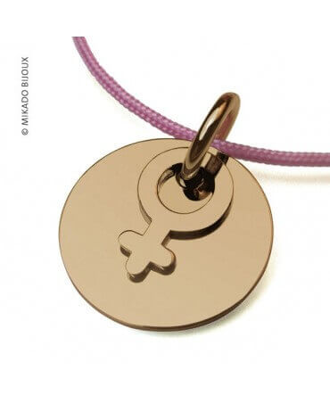 Mikado : pendentif I am a girl or jaune