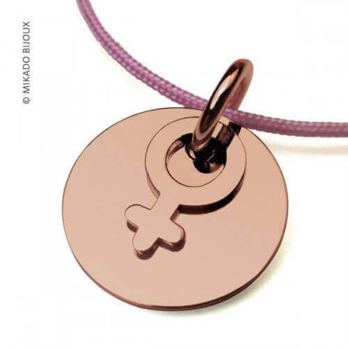 Mikado : pendentif I am a girl or rose