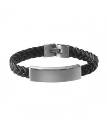 Petits Trésors : bracelet Gentleman cuir tressé