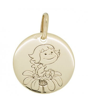 La Fée Galipette : médaille Précieuse Nature or jaune 9 carats