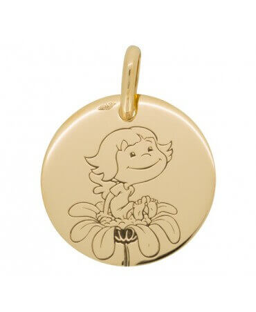 La Fée Galipette : médaille Précieuse Nature or jaune 18 carats