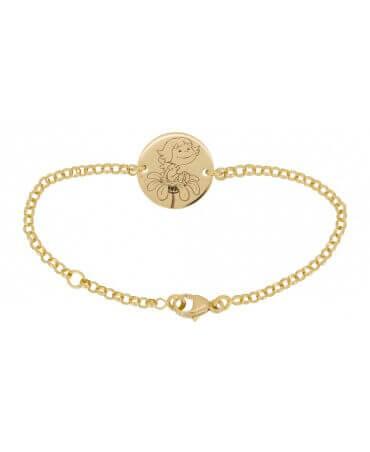 La Fée Galipette : bracelet chaîne médaille Précieuse or jaune 18 carats