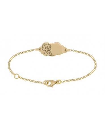 La Fée Galipette : bracelet nuage Précieuse or jaune 18 carats