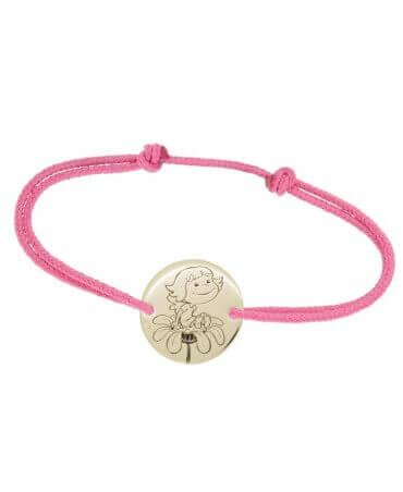 La Fée Galipette : bracelet cordon Précieuse or jaune 9 carats