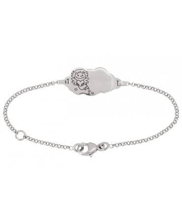La Fée Galipette : bracelet nuage Précieuse or blanc 18 carats