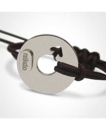 Mikado : bracelet Disco boy argent