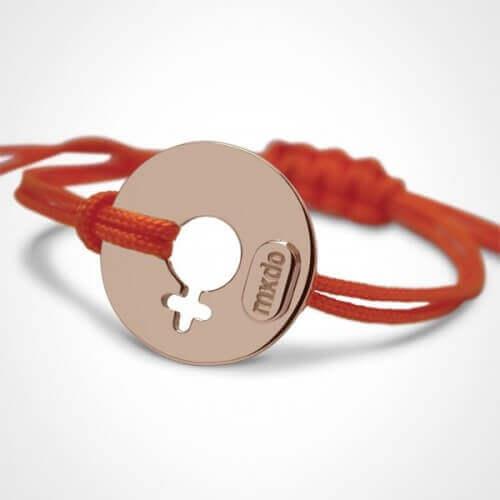 Mikado : bracelet Disco girl or rose