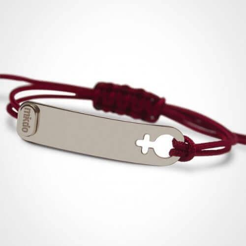 Mikado : bracelet I am a girl or blanc