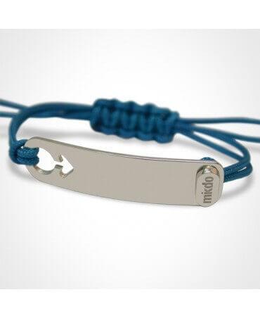 Mikado : bracelet I am a boy argent