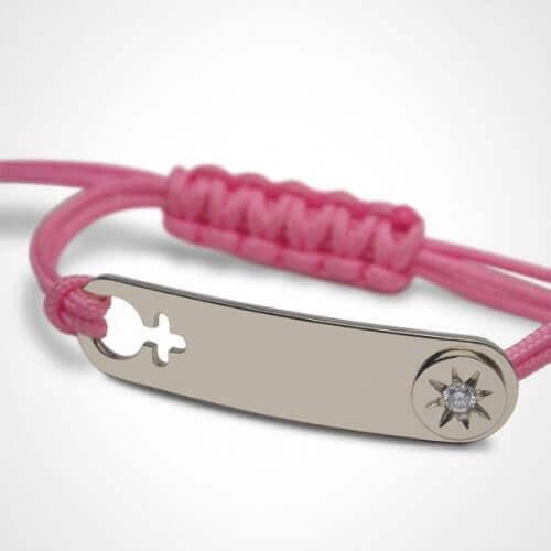 Mikado : bracelet fille I am a star (argent)