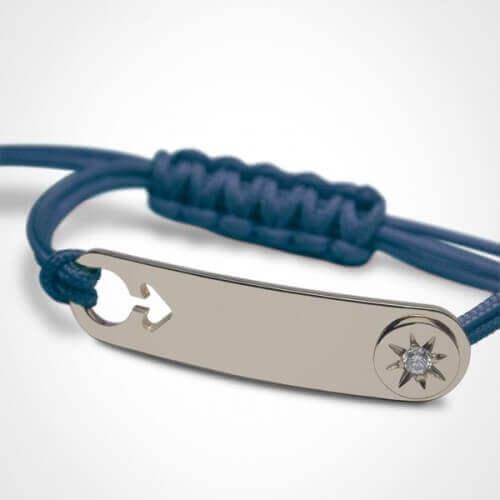 Mikado : bracelet garçon I am a star (argent)