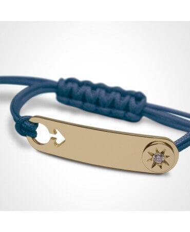 Mikado : bracelet garçon I am a star (or jaune)