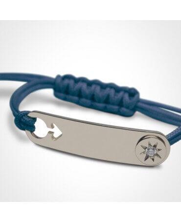 Mikado : bracelet garçon I am a star (or blanc)