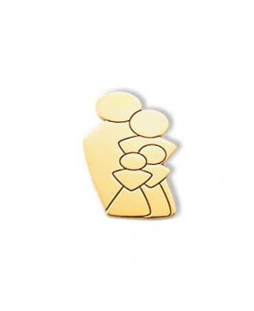 Daddo : pendentif Ma Tribu 2 filles (or jaune)
