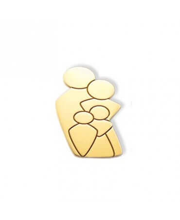 Daddo : pendentif Ma Tribu 1 fille 1 garçon (or jaune)