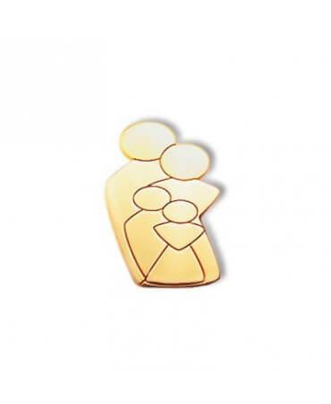 Daddo : pendentif Ma Tribu 1 garçon 1 fille (or jaune)