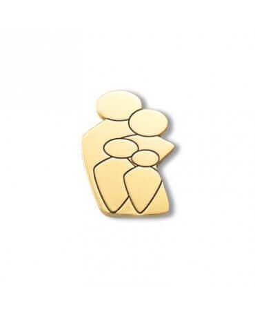 Daddo : pendentif Ma Tribu 2 garçons (or jaune)