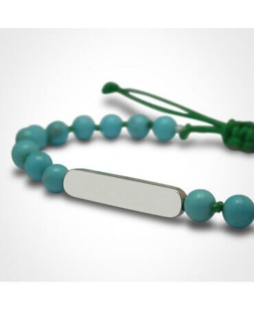 Mikado : bracelet Maracas Turquoise (argent)