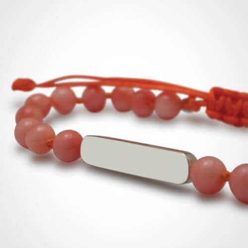 Mikado : bracelet Maracas Corail (argent)